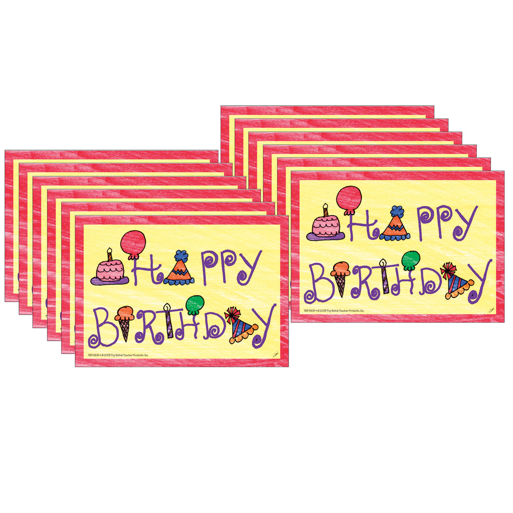(12 Pk) Happy Birthday Postcards