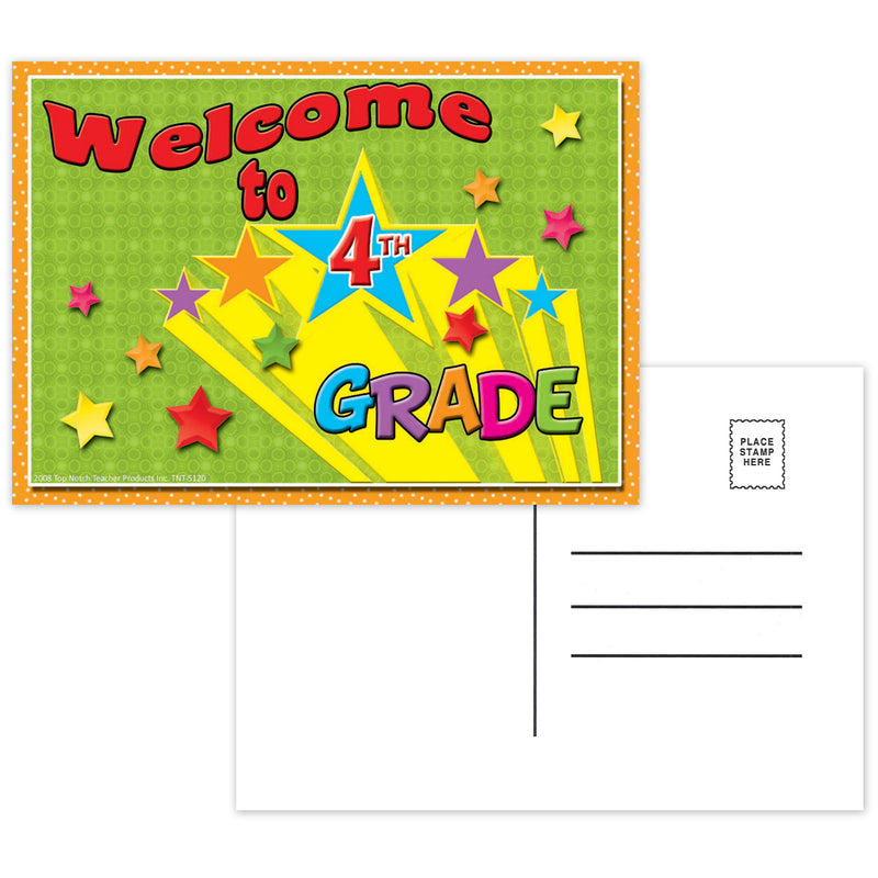 (12 Pk) Postcards Welcome To 4th Grade