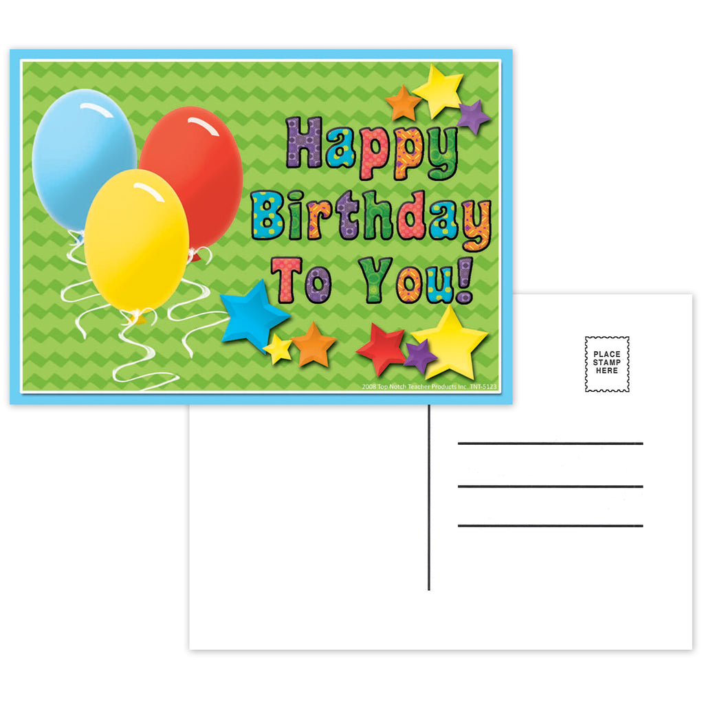 (6 Pk) Postcards Happy Birthday To You