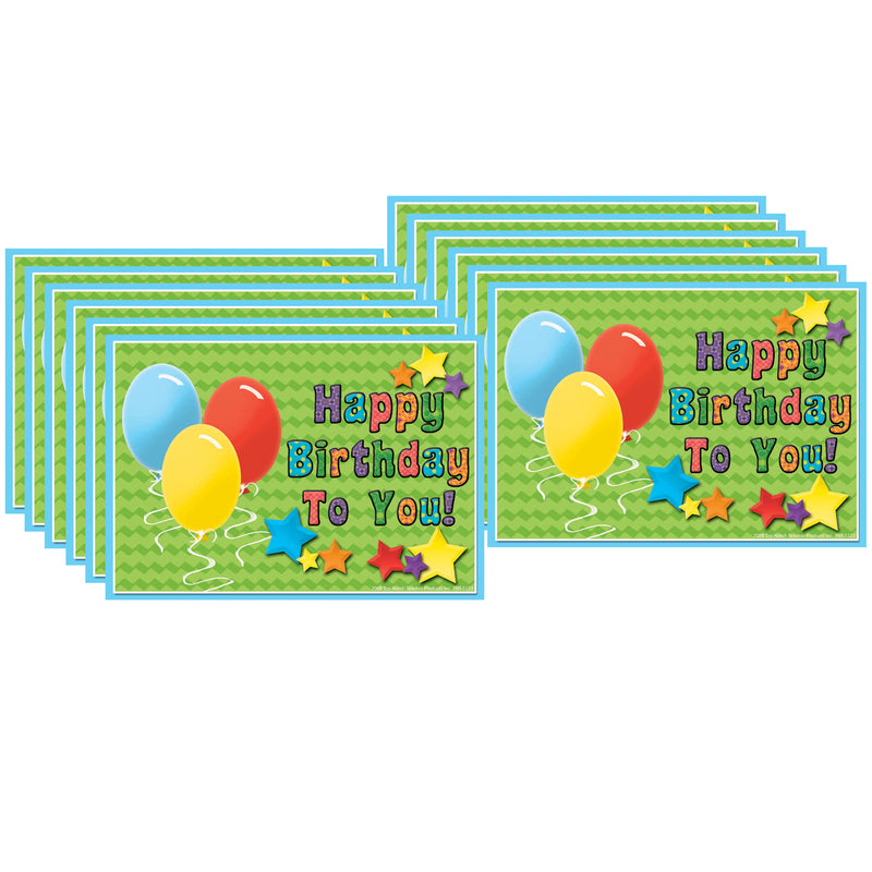 (12 Pk) Postcards Happy Birthday To You