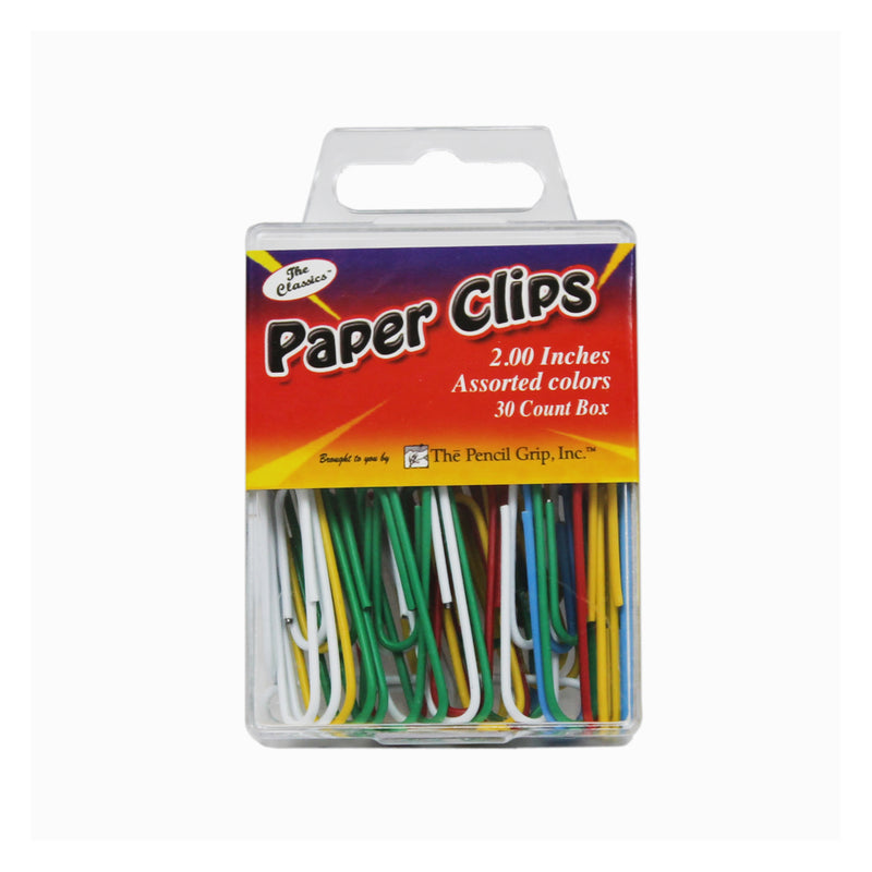 (24 Bx) Jumbo Paper Clip Assorted Colors 2in 30 Per Bx