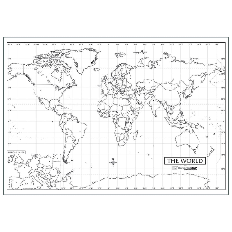 Outline Wall Maps World Map