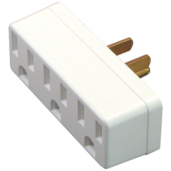 3-Outlet Grounded Wall Adapter