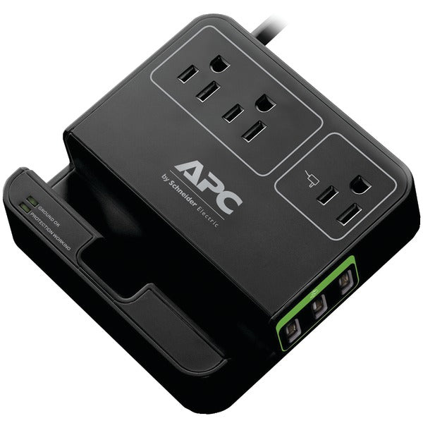 3-Outlet SurgeArrest(R) Surge Protector with 3 USB Ports (Black)