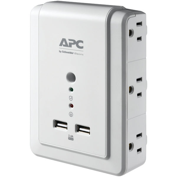 6-Outlet SurgeArrest(R) Surge Protector Wall Tap with 2 USB Ports