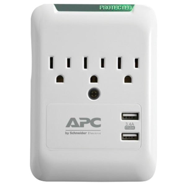 Essential SurgeArrest(R) 3-Outlet Wall Tap with 2 USB Charging Ports