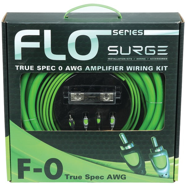 Flo Series Amp Installation Kit (0 Gauge, 5,000 Watts)