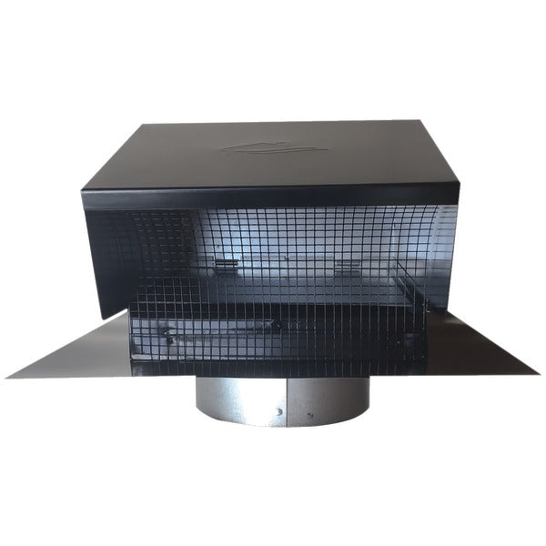 "Black Metal Roof Vent Cap (6"" Collar)"