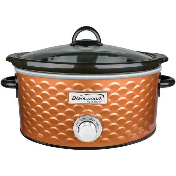 4.5-Quart Scallop Pattern Slow Cooker (Copper)