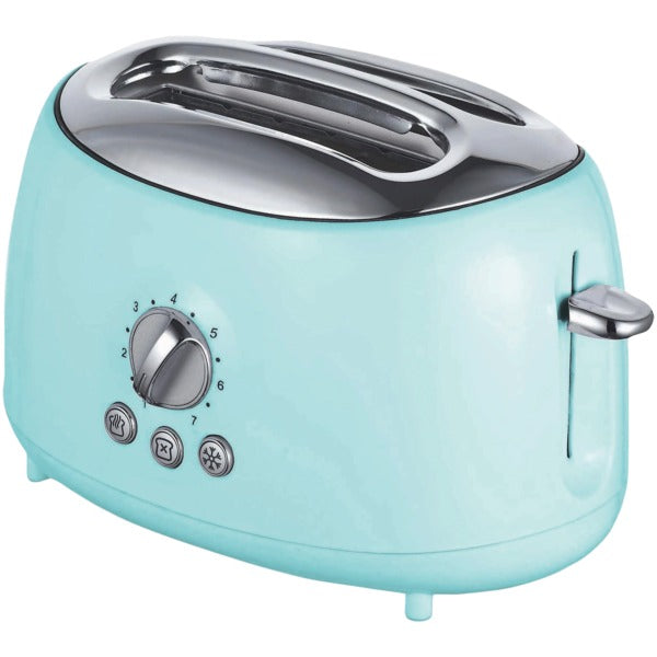 Cool-Touch 2-Slice Retro Toaster with Extra-Wide Slots (Blue)