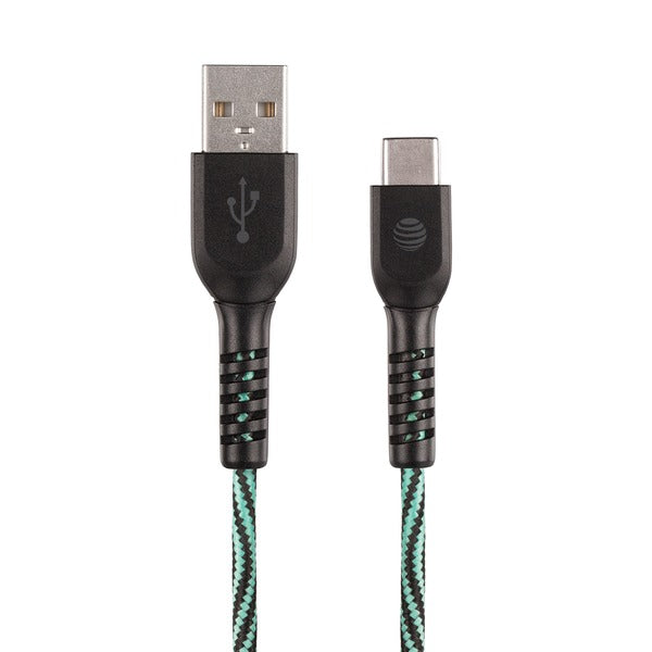 4-Foot Charge and Sync USB to Type-C Cable (Teal)