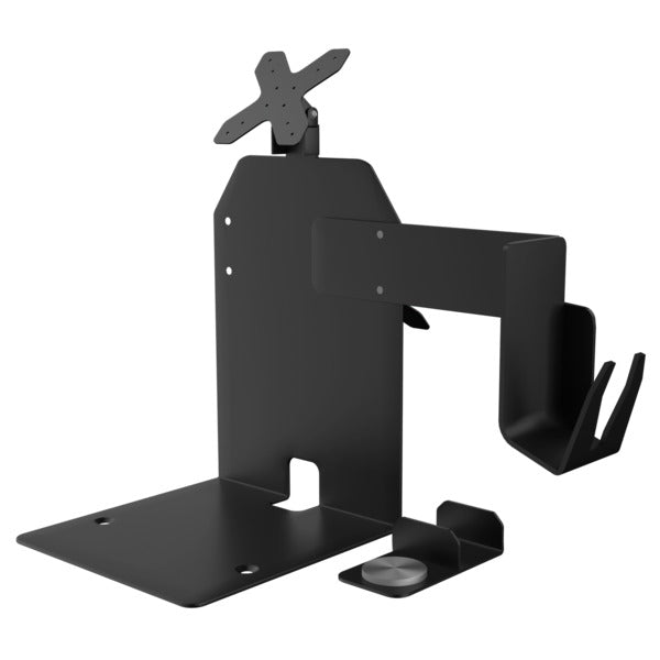 VESA(R) Dual Plate POS Station with Printer Stand, Magnetic Scanner Holder, Card Reader Holder, and 2 Paragon Enclosures