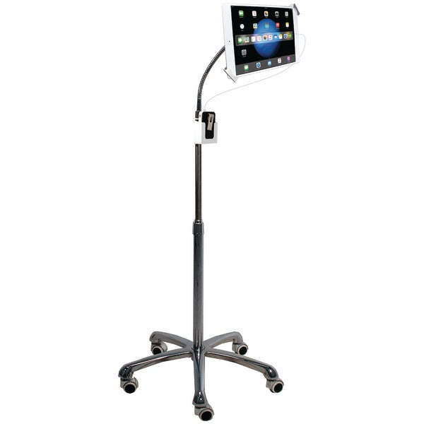 Heavy-Duty Security Gooseneck Floor Stand for iPad(R)-Tablet
