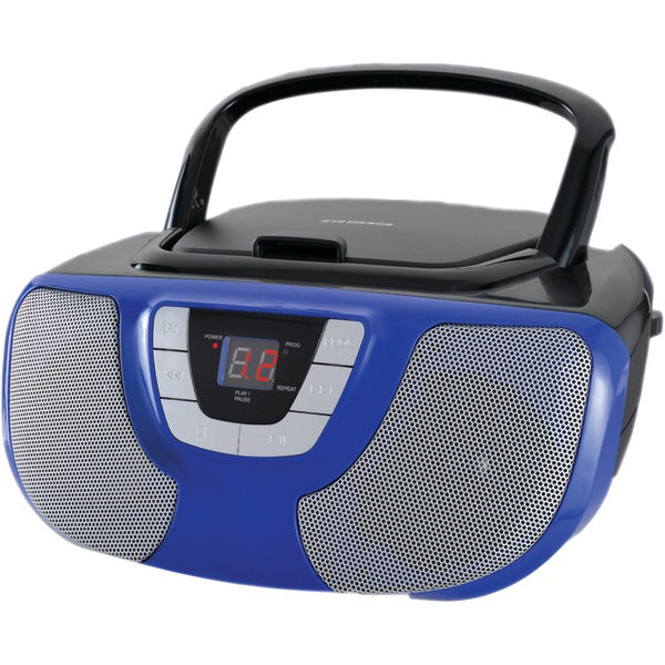 Portable CD Radio Boom Box (Blue)