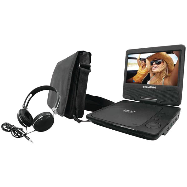 "7"" Swivel-Screen Portable DVD Player Bundle (Black)"
