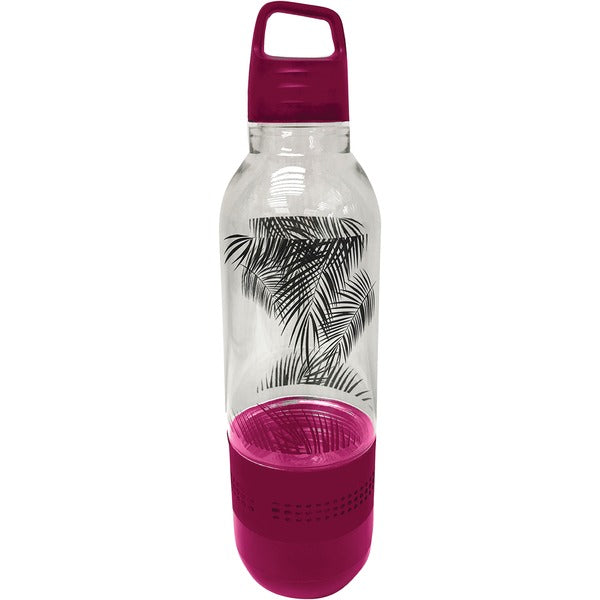 Holographic Light Water Bottle with Integrated Bluetooth(R) Speaker (Pink)