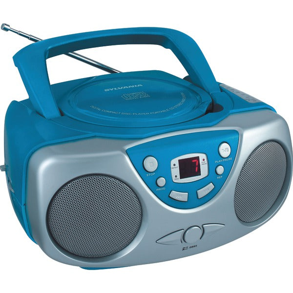 Portable CD Boom Box with AM-FM Radio (Blue)