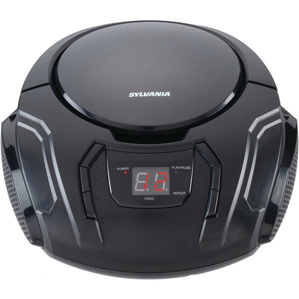 Portable CD Player with AM-FM Radio (Black)