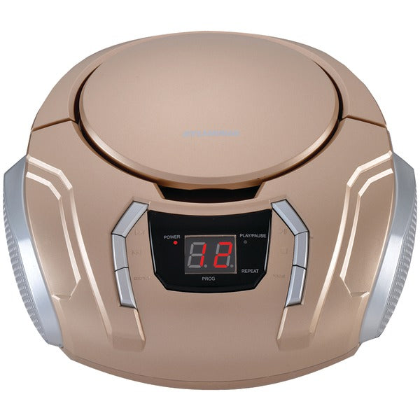 Portable CD Player with AM-FM Radio (Champagne)