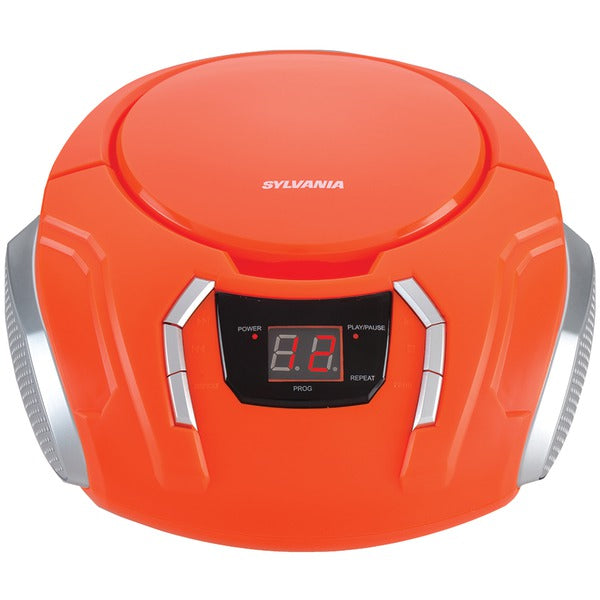 Portable CD Player with AM-FM Radio (Orange)