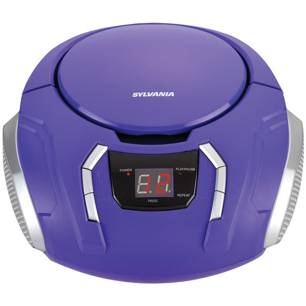 Portable CD Player with AM-FM Radio (Purple)