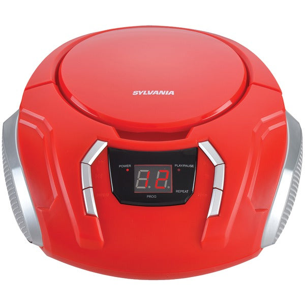 Portable CD Player with AM-FM Radio (Red)