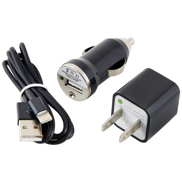 Charge & Sync Kit with Lightning(R) to USB Cable (Black)