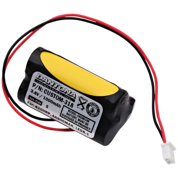 CUSTOM-318 Rechargeable Replacement Battery