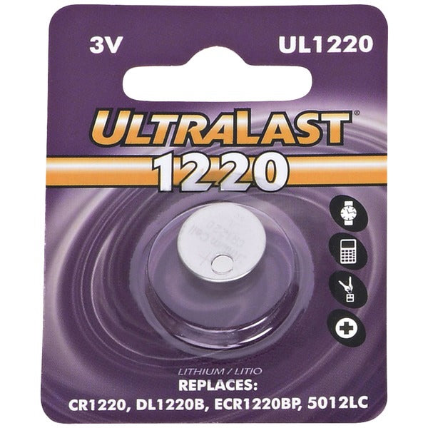 Ultralast UL1220 UL1220 CR1220 Lithium Coin Cell Battery