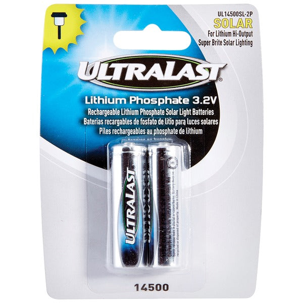 Ultralast UL14500SL-2P UL14500SL-2P 14500 Lithium Batteries for Solar Lighting, 2 pk
