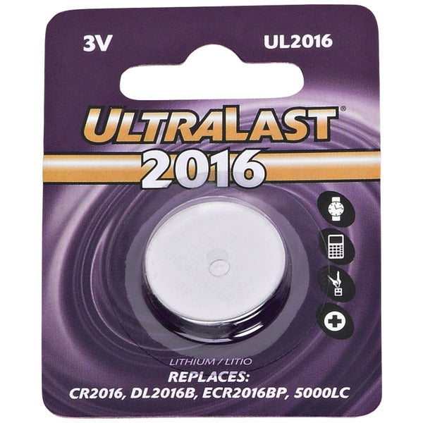UL2016 CR2016 Lithium Coin Cell Battery
