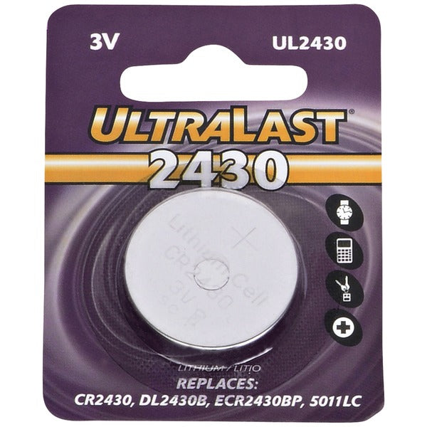 Ultralast UL2430 UL2430 CR2430 Lithium Coin Cell Battery