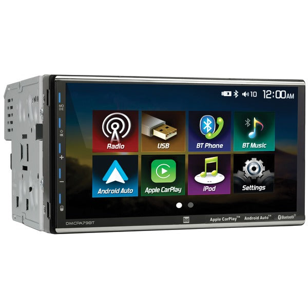 7-Inch Double-DIN In-Dash Mechless Receiver with Bluetooth(R), Apple CarPlay(TM), and Android(TM) Auto