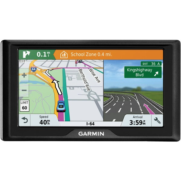 "Garmin 010-01679-0B Drive 61 LM 6"" GPS Navigator with Driver Alerts (US Lifetime Maps)"
