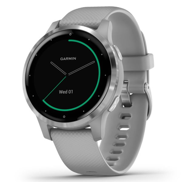 vivoactive(R) 4S GPS Smartwatch (Silver Stainless Steel Bezel with Powder Gray Case and Silicone Band)