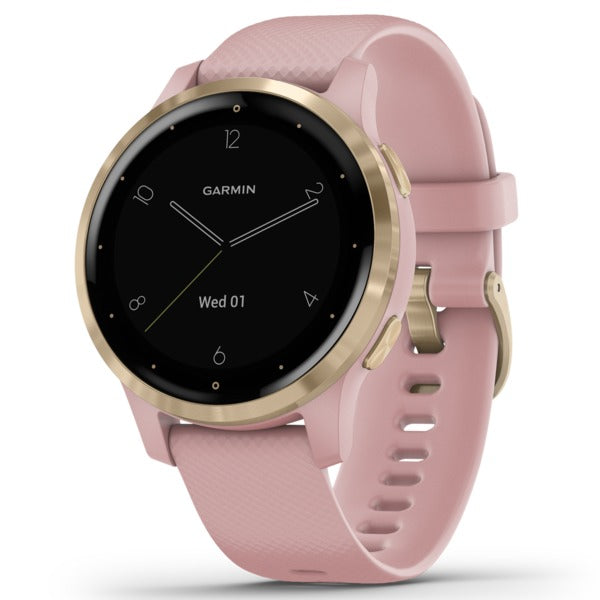 vivoactive(R) 4S GPS Smartwatch (Light Gold Stainless Steel Bezel with Dust Rose Case and Silicone Band)