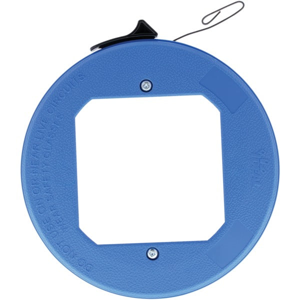 Blued-Steel(TM) Fish Tape with Formed Hook and Thumb Winder(TM) Case, 25 Feet