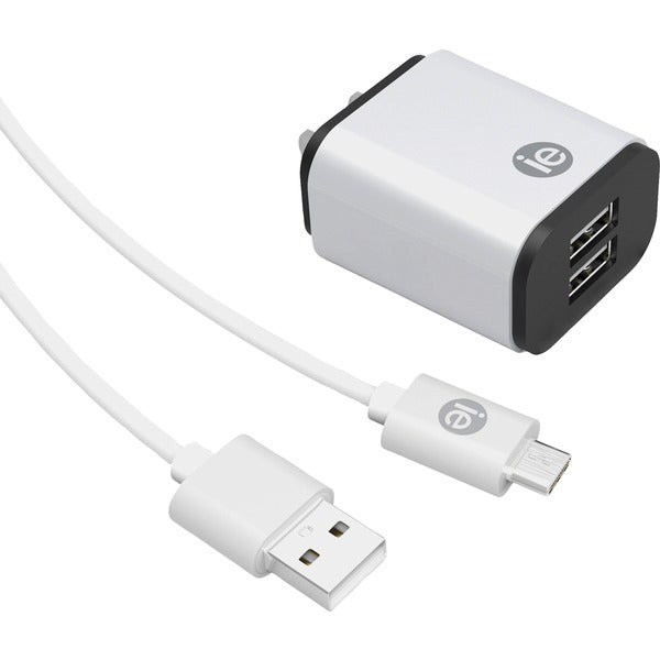 2.4-Amp Dual-USB Wall Charger with USB-A to USB-C(TM) Cable, 4ft
