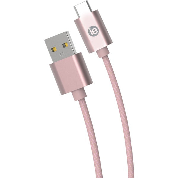Charge & Sync Braided USB-C(TM) to USB-A Cable, 10ft (Rose Gold)