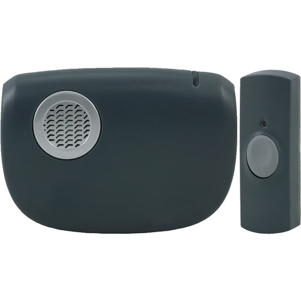 8-Chime Battery-Operated Portable Door Chime with Wireless Push Button