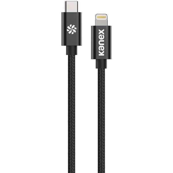 Premium DuraBraid(R) USB-C(TM) to Lightning(R) Cable, 4 Feet (Black)