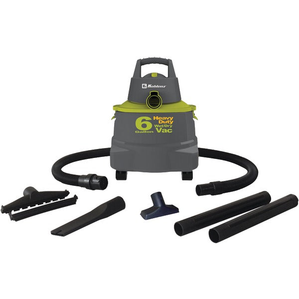 Wet-Dry Vacuum Cleaner with 6-Gallon Tank