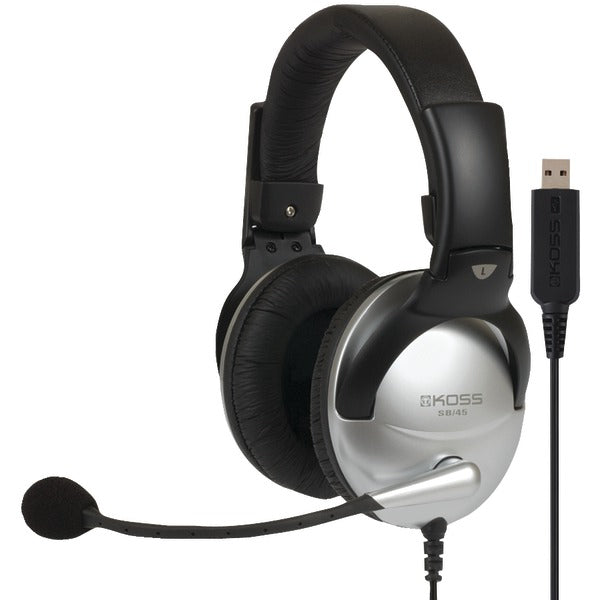 SB45 USB Full-Size Over-Ear Communication Headset