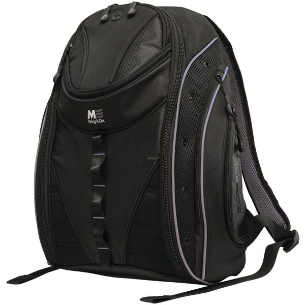 "16"" PC-17"" MacBook(R) Express 2.0 Backpack, Black-Silver"