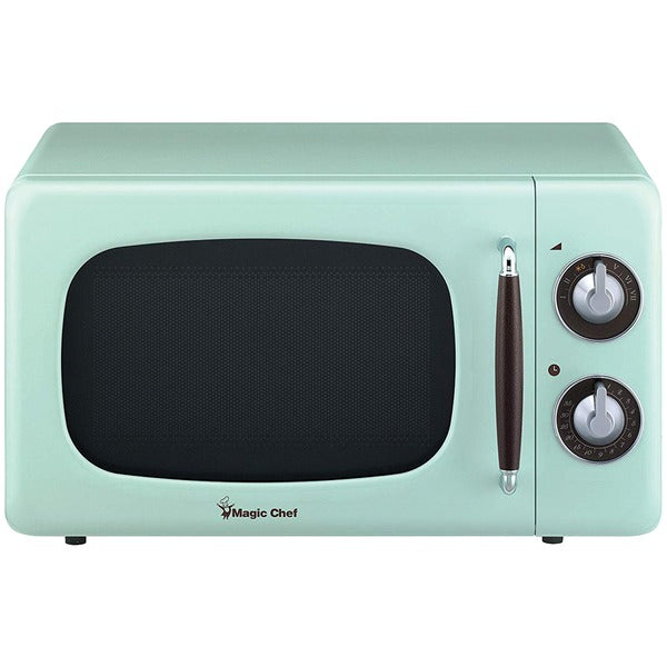 .7 Cubic-ft 700-Watt Retro Microwave (Mint Green)