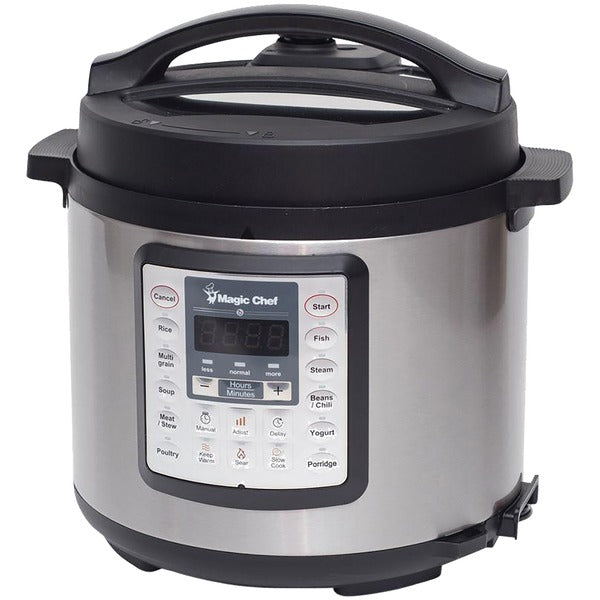 Magic Chef MCSMC10S7 6-Quart 7-in-1 Stainless Steel Multicooker