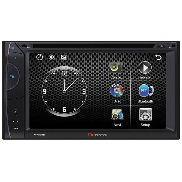 6.2-Inch WVGA Double-DIN In-Dash DVD Receiver with Bluetooth(R)