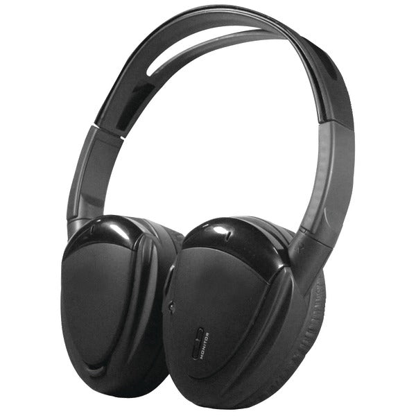 2-Channel RF 900MHz Wireless Headphones with Swivel Earpads for Power Acoustik(R) Mobile A-V Systems
