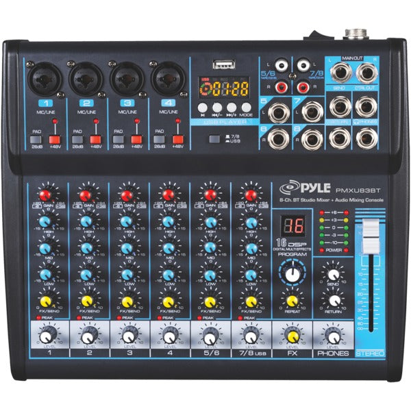 8-Channel Bluetooth(R) Studio Audio Mixer