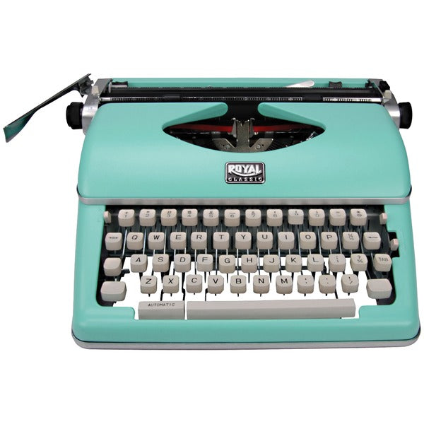 Classic Manual Typewriter (Mint Green)